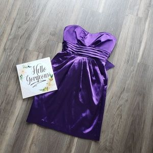 Teeze Me Strapless Purple Mini Dress